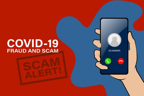 Ballast Advisors - Graphic on alerts to Covid 19 fraud and scams