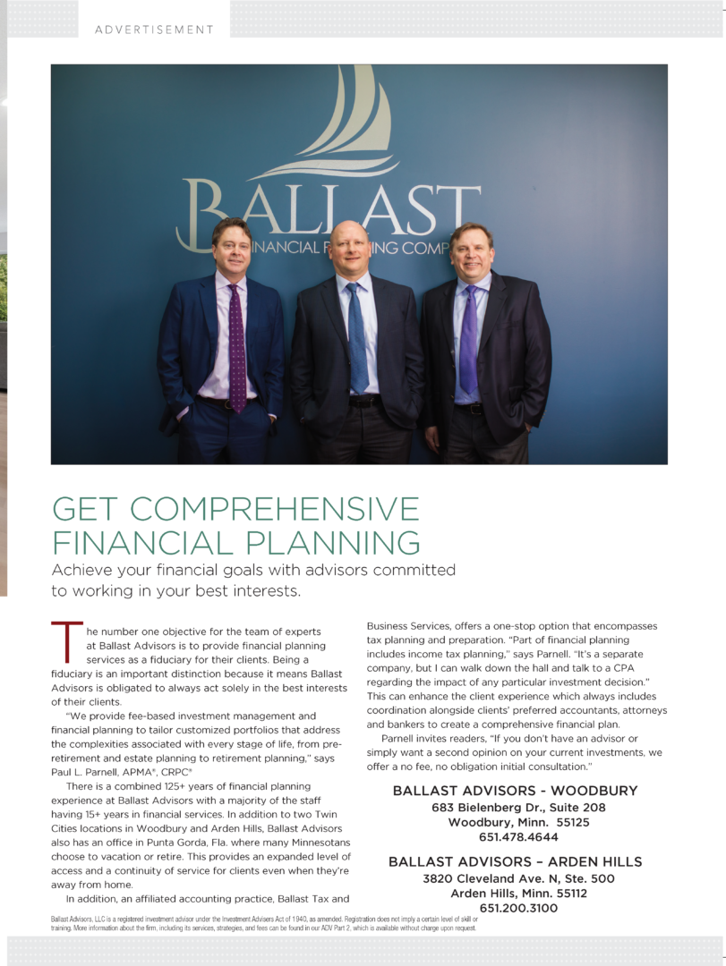 Ballast Advisors featured in St. Croix Valley Magazine
